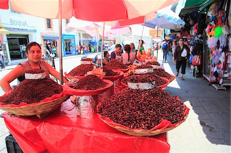 Vendor selling chapulines (fried grasshoppers), Oaxaca City, Oaxaca, Mexico, North America Stock Photo - Rights-Managed, Code: 841-06031785