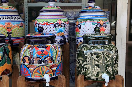 Talavera pottery, Puebla, Historic Center, Puebla State, Mexico, North America Stock Photo - Rights-Managed, Code: 841-06031796