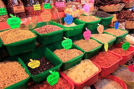 Dried beans, Food Market, Oaxaca City, Oaxaca, Mexico, North America Stock Photo - Rights-Managed, Code: 841-06031790