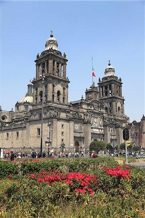 Metropolitan Cathedral, the largest church in Latin America, Zocalo, Plaza de la Constitucion, Mexico City, Mexico, North America Stock Photo - Rights-Managed, Code: 841-06031842