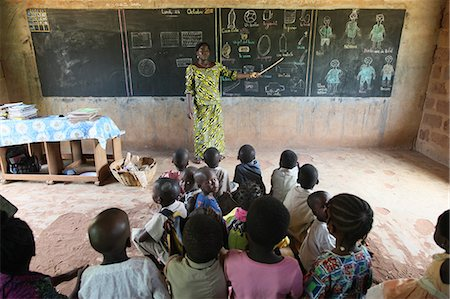 Primary school in Africa, Hevie, Benin, West Africa, Africa Stock Photo - Rights-Managed, Code: 841-06032086
