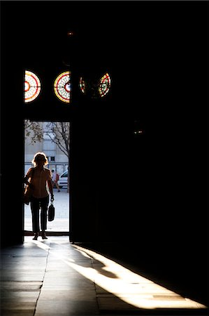 shadow - Walking into St. Sulpice basilica, Paris, France, Europe Stock Photo - Rights-Managed, Code: 841-06032179