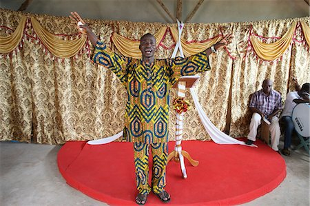 Evangelical preacher in church, Lome, Togo, West Africa, Africa Stock Photo - Rights-Managed, Code: 841-06032322