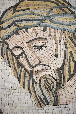 Mosaic in Maronite church, Lome, Togo, West Africa, Africa Stock Photo - Rights-Managed, Code: 841-06032365
