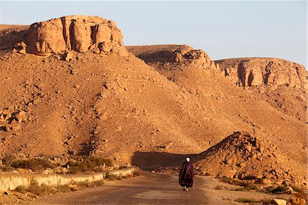 Man walking on the Chenini village road, Tunisia, North Africa, Africa Stock Photo - Rights-Managed, Code: 841-06032480
