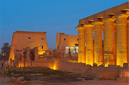 Temple of Luxor, Thebes, UNESCO World Heritage Site, Egypt, North Africa, Africa Stock Photo - Rights-Managed, Code: 841-06032842