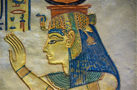 egypt - Amun her Khepeshef tomb, West Bank of the River Nile, Thebes, UNESCO World Heritage Site, Egypt, North Africa, Africa Stock Photo - Rights-Managed, Code: 841-06032917