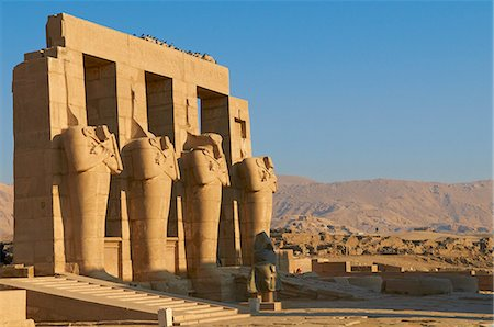 egypt - Ramesseum Temple, West Bank of the River Nile, Thebes, UNESCO World Heritage Site, Egypt, North Africa, Africa Stock Photo - Rights-Managed, Code: 841-06032910