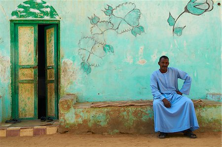 egypt - Nubian painted village near Aswan, Egypt, North Africa, Africa Stock Photo - Rights-Managed, Code: 841-06032930
