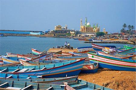 Vizhinjam, fishing harbour near Kovalam, Kerala, India, Asia Stock Photo - Rights-Managed, Code: 841-06032966