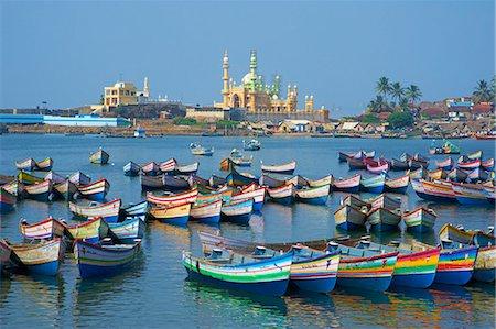Vizhinjam, fishing harbour near Kovalam, Kerala, India, Asia Stock Photo - Rights-Managed, Code: 841-06032968