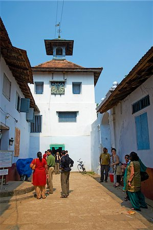 placing - Synagogue in the Jewish district, Fort Cochin (Kochi), Kerala, India, Asia Stock Photo - Rights-Managed, Code: 841-06032960
