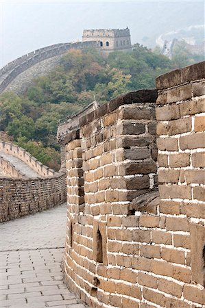 Close up of wall, Great Wall of China, UNESCO World Heritage Site, Mutianyu, China, Asia Stock Photo - Rights-Managed, Code: 841-06033066