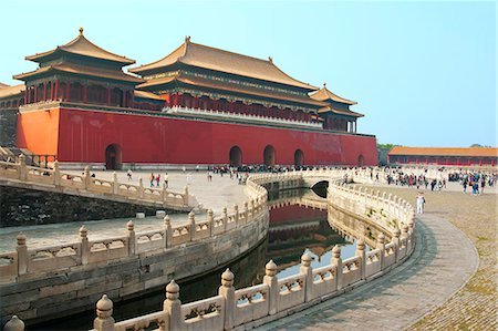 River of Gold, Forbidden City, Beijing, China, Asia Stock Photo - Rights-Managed, Code: 841-06033092