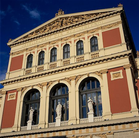 Exterior of Musikverein concert hall, Vienna, Austria, Europe Stock Photo - Rights-Managed, Code: 841-06033245