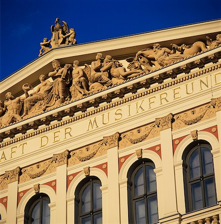 Exterior of Musikverein concert hall, Vienna, Austria, Europe Stock Photo - Rights-Managed, Code: 841-06033246