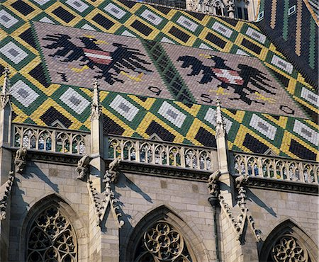 St. Stephen`s Cathedral with coat of arms on roof, UNESCO World Heritage Site, Vienna, Austria, Europe Stock Photo - Rights-Managed, Code: 841-06033249