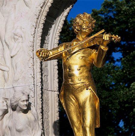 Statue of Johann Strauss, Stadtpark, Vienna, Austria, Europe Stock Photo - Rights-Managed, Code: 841-06033251