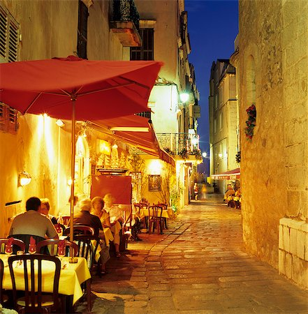 Evening restaurant scene in Haute Ville, Bonifacio, South Corsica, Corsica, France, Europe Stock Photo - Rights-Managed, Code: 841-06033760