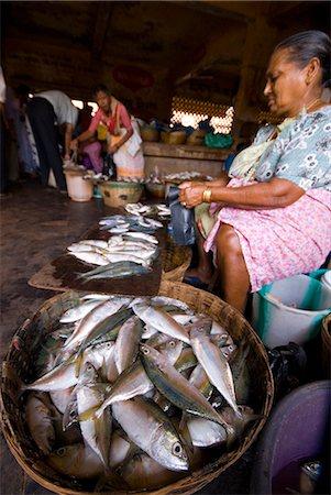 Woman selling fish, Mapusa Market, Goa, India, Asia Stock Photo - Rights-Managed, Code: 841-06033991