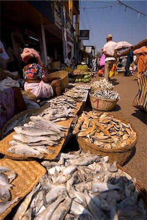 Fish stall, Mapusa Market, Goa, India, Asia Stock Photo - Rights-Managed, Code: 841-06033993