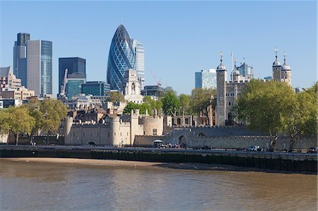 europe - City of London financial district buildings and the Tower of London, London, England, United Kingdom, Europe Stock Photo - Rights-Managed, Code: 841-06344051