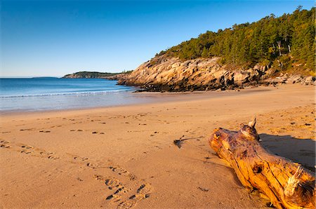Sandy Beach, Acadia National Park, Mount Desert Island, Maine, New England, United States of America, North America Stock Photo - Rights-Managed, Code: 841-06344244