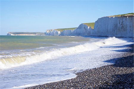 Birling Gap and chalk cliffs of the Seven Sisters, East Sussex, South Downs National Park, England, United Kingdom, Europe Stock Photo - Rights-Managed, Code: 841-06344359