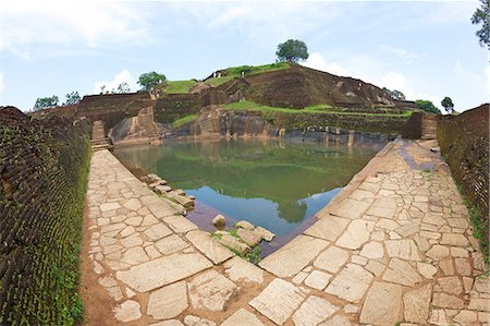 Royal Bathing Pool, Sigiriya Lion Rock Fortress, 5th century AD, UNESCO World Heritage Site,  Sigiriya, Sri Lanka, Asia Stock Photo - Rights-Managed, Code: 841-06344411