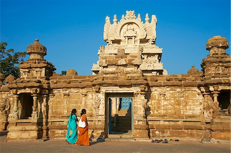 Kailasanatha temple dating from 8th century, Kanchipuram, Tamil Nadu, India, Asia Stock Photo - Rights-Managed, Code: 841-06344578