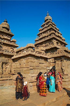 The Shore Temple, Mamallapuram (Mahabalipuram), UNESCO World Heritage Site, Tamil Nadu, India, Asia Stock Photo - Rights-Managed, Code: 841-06344591