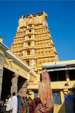 floral - Pilgrim, Sri Chamundeswari temple, Chamundi Hill, Mysore, Karnataka, India, Asia Stock Photo - Rights-Managed, Code: 841-06344651