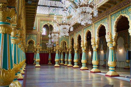 Maharaja's Palace, Mysore, Karnataka, India, Asia Stock Photo - Rights-Managed, Code: 841-06344660