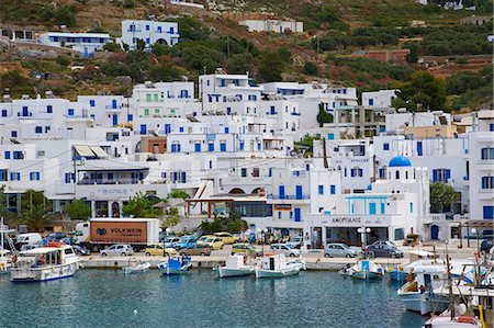 Aigiali town and harbour, Amorgos, Cyclades, Aegean, Greek Islands, Greece, Europe Stock Photo - Rights-Managed, Code: 841-06344685