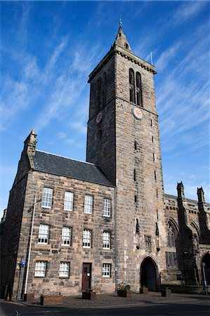 St Salvators College Chapel Tower, St Andrews, Fife, Scotland Stock Photo - Rights-Managed, Code: 841-06344945