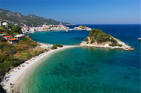 View over beach, Kokkari, Samos, Aegean Islands, Greece Stock Photo - Rights-Managed, Code: 841-06345170