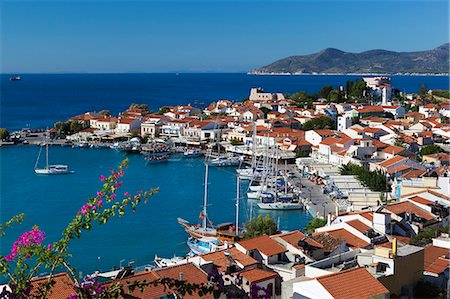 Harbour view, Pythagorion, Samos, Aegean Islands, Greece Stock Photo - Rights-Managed, Code: 841-06345194