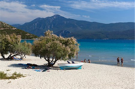 Beach view, Psili Ammos, Samos, Aegean Islands, Greece Stock Photo - Rights-Managed, Code: 841-06345219