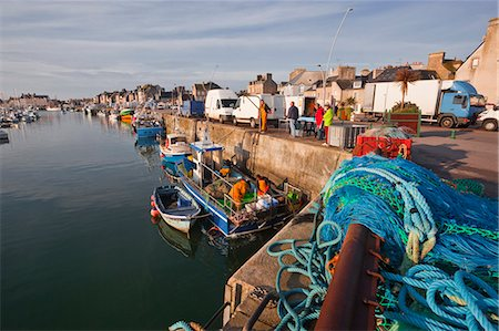 france - Looking down the harbour at Saint Vaast La Hougue, Cotentin Peninsula, Normandy, France, Europe Stock Photo - Rights-Managed, Code: 841-06345296