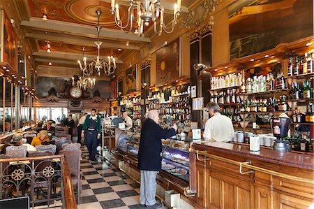 european cafe bar - Interior of A Brasileira old-style coffee house, Baixa Chiado, Lisbon, Portugal, Europe Stock Photo - Rights-Managed, Code: 841-06345291