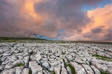 Twistleton Scar Limestone Pavement, Ingleton, Yorkshire Dales, Yorkshire, England, United Kingdom, Europe Stock Photo - Rights-Managed, Code: 841-06345327