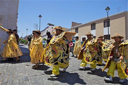 peru and culture - Wedding procession with traditionally dressed Peruvians, Arequipa, peru, peruvian, south america, south american, latin america, latin american South America Stock Photo - Rights-Managed, Code: 841-06345439