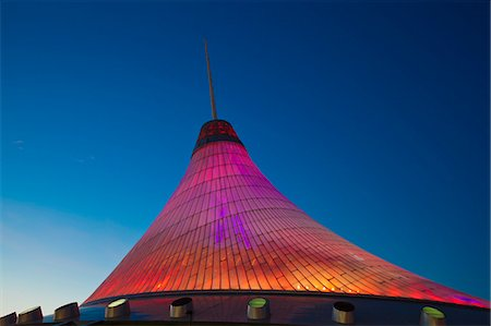 Khan Shatyr shopping and entertainment center at night, Astana, Kazakhstan, Central Asia, Asia Stock Photo - Rights-Managed, Code: 841-06341027