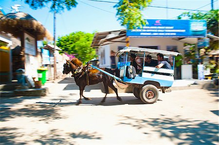 Cidomo, a horse and cart on Gili Trawangan, Gili Islands, Indonesia, Southeast Asia, Asia Stock Photo - Rights-Managed, Code: 841-06341127