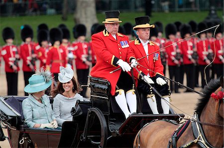 The Duchess of Cornwall and the Duchess of Cambridge,  Trooping the Colour 2012, The Queen's Birthday Parade, Whitehall, London, England, United Kingdom, Europe Stock Photo - Rights-Managed, Code: 841-06341538