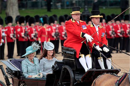 The Duchess of Cornwall and the Duchess of Cambridge,  Trooping the Colour 2012, The Queen's Birthday Parade, Whitehall, London, England, United Kingdom, Europe Stock Photo - Rights-Managed, Code: 841-06341539