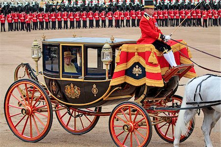 HM The Queen, Trooping the Colour 2012, The Queen's Birthday Parade, Whitehall, Horse Guards, London, England, United Kingdom, Europe Stock Photo - Rights-Managed, Code: 841-06341545