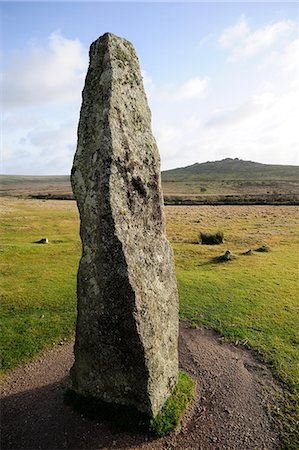 dartmoor national park - Bronze Age standing stone, Merrivale, Dartmoor, Devon, England, United Kingdom, Europe Stock Photo - Rights-Managed, Code: 841-06341672