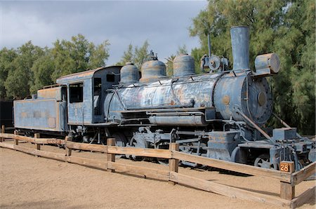 Old steam locomotive, Furnace Creek, Death Valley, California, United States of America, North America Stock Photo - Rights-Managed, Code: 841-06341861