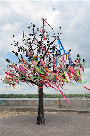 Wish Tree, Kiev, Ukraine, Europe Stock Photo - Rights-Managed, Code: 841-06341912